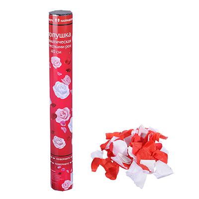 530-142 Лепестки роз Хлопушка пневматическая, 40см, бумага, металл