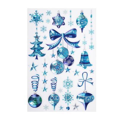 336-173 Новогодние наклейки СНОУ БУМ ПВХ 3D 20х30 см, 3 дизайна