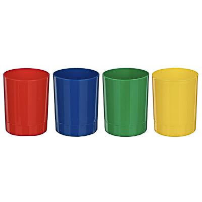 595-002 Подставка-стакан, полистирол, 4 цвета