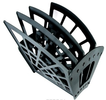 595-004 Лоток для бумаг вертикально-горизонтальный, 3 отделения,37х23х4 см, черный, полистирол, СТАММ