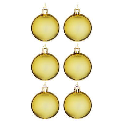 372-330 Елочные шары набор СНОУ БУМ 6шт, 6см, пластик, в пакете, золото, глянец