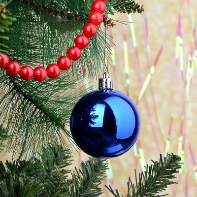 372-336 Елочные шары набор СНОУ БУМ 6шт, 6см, пластик, в пакете, синий, глянец