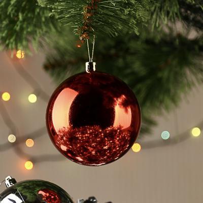 372-341 Елочный шар СНОУ БУМ 10 см, пластик, 1 шт, в пакете, красный