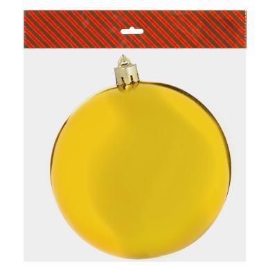 372-342 Елочный шар СНОУ БУМ 10 см, пластик, 1 шт, в пакете, золото