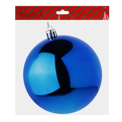 372-347 Елочный шар СНОУ БУМ 10 см, пластик, 1 шт, в пакете, синий