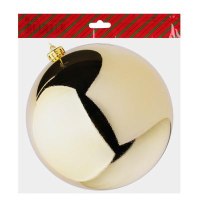 372-360 Елочный шар СНОУ БУМ 20 см, пластик, 1 шт, в пакете, золото