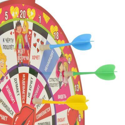 538-068 Дартс магнитный со стрелами (3шт), 32см, пластик, бумага, Любит не любит? GC Design