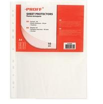 593-002 Набор вкладышей с перфорацией (файлов) плотных A4, 40мкм, 10 штук в пакете, 10-A040-00