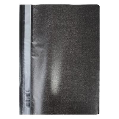 593-014 Папка-скоросшиватель A4, пластик, 120/180 мкм, черная