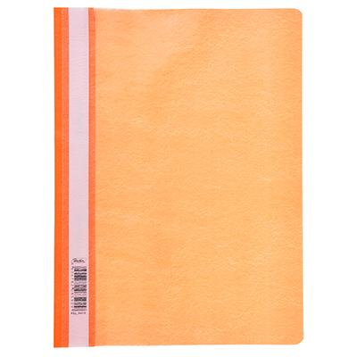 593-015 Папка-скоросшиватель A4, пластик, 120/180 мкм, оранжевая