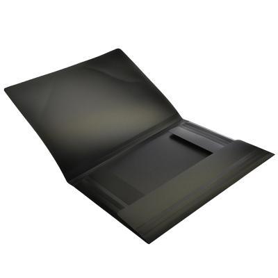 591-001 Папка A4 с резинкой 450мкм, черная, EDC202-06