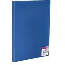 591-009 Папка A4 с боковым прижимом 350мкм, синяя, I-901-04