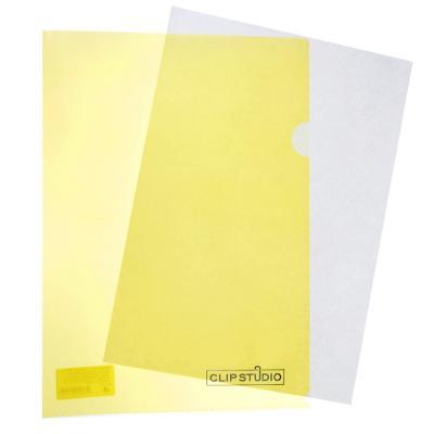 593-018 Папка-уголок А4 прозрачная, 150 мкм, 4 цвета, ClipStudio