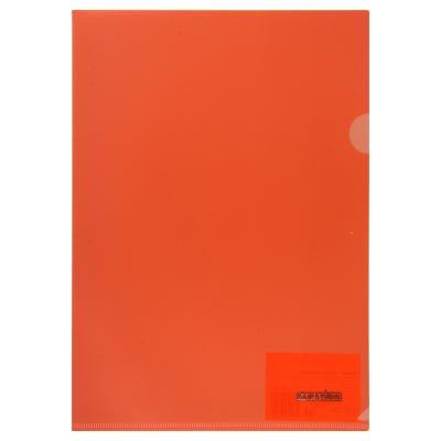 593-018 Папка-уголок ClipStudio A4 прозрачная, 4 цвета