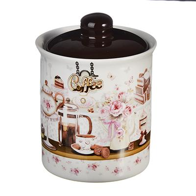 824-841 MILLIMI Кофейня Банка для сыпучих продуктов, 550мл, керамика