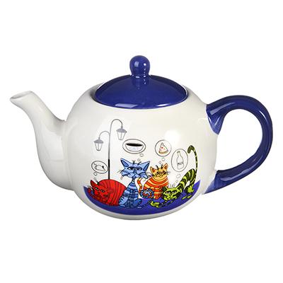 824-855 MILLIMI Лучшие друзья Чайник заварочный 580мл, керамика
