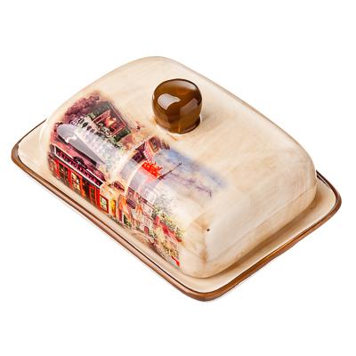 """824-863 Масленка 17x12,5x8,3 см, керамика, MILLIMI """"Итальянская улочка"""""""