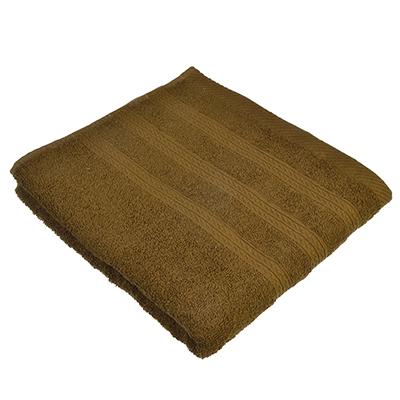 489-083 Полотенце для лица махровое, хлопок, 50х90см, коричневое, VETTA