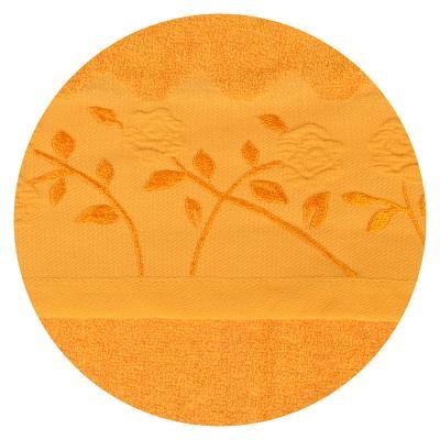 489-086 Полотенце для лица махровое, хлопок, 50х90см, оранжевое, VETTA