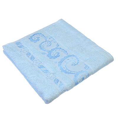489-088 Полотенце для лица махровое, хлопок, 50х90см, голубое, VETTA