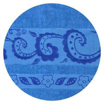 489-089 Полотенце для лица махровое, хлопок, 50х90см, синее, VETTA