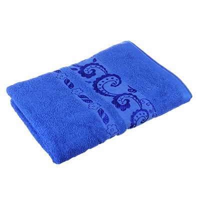 484-777 Полотенце банное махровое синее, 70х140см, VETTA
