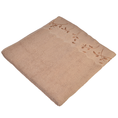 484-781 VETTA Полотенце махровое, 100% хлопок, 70х140см, Листопад св. коричневое