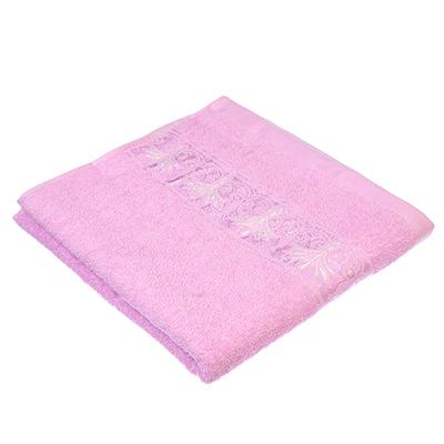 489-090 Полотенце для лица махровое, хлопок, 50х90см, розовое, VETTA