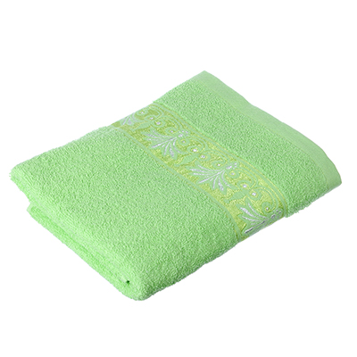 489-091 VETTA Полотенце махровое, 100% хлопок, 50х90см, Феникс зелёное