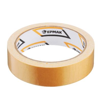 669-188 ЕРМАК Клейкая лента двухсторонняя 25мм х 10м, (ткань осн., инд.упаковка)