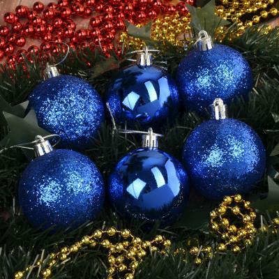 373-135 СНОУ БУМ Набор шаров 6шт, 6см, пластик, синий