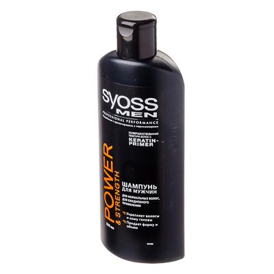 974-058 Шампунь SYOSS Мен Повер энд Стрендж для нормальных волос для мужчин, п/э 300мл, 2102350