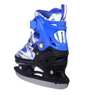 110-001 Коньки ледовые раздвижные S:29-33, синий, SILAPRO