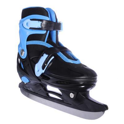 110-014 Коньки ледовые раздвижные M:35-38, сине-черный, SILAPRO