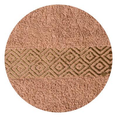 """489-093 Полотенце для лица махровое, хлопок, 50х100см, коричневое, """"Соты"""""""