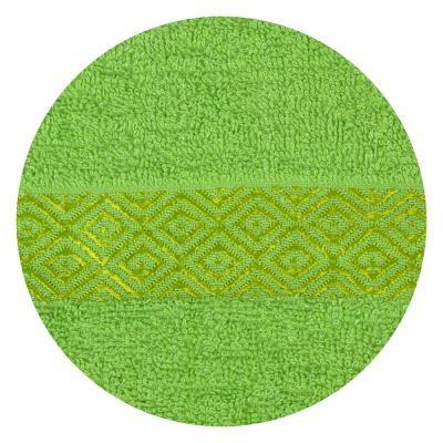 """489-095 Полотенце для лица махровое, хлопок, 50х100см, зеленое,""""Соты"""""""