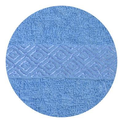 """489-099 Полотенце для лица махровое, хлопок, 50х100см, синее,""""Соты"""""""