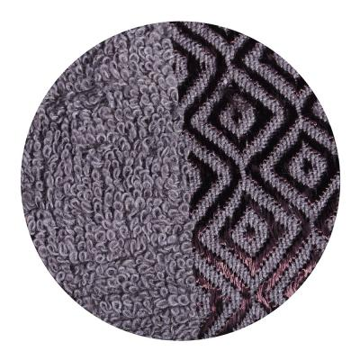 """489-102 Полотенце махровое, 100% хлопок, 50х100см, """"Соты"""", серый"""
