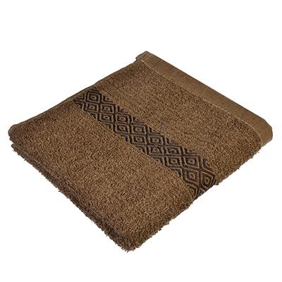 489-103 Полотенце для лица махровое коричневое 50х100см