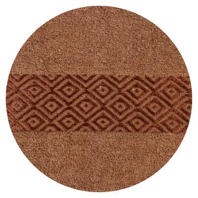 484-784 Полотенце банное махровое, 70х140см, коричневое