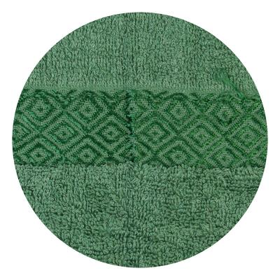 484-791 Полотенце банное махровое зеленое 70х140см