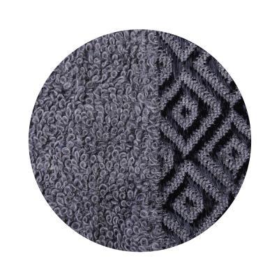"""484-793 Полотенце махровое, 100% хлопок, 70х140см, """"Соты"""", серый"""
