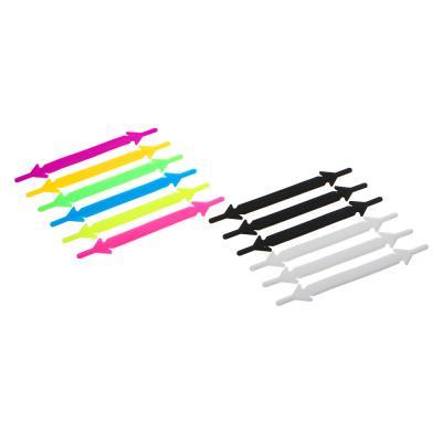 308-210 Набор шнурков 6шт, силикон, 9см, 2 дизайна
