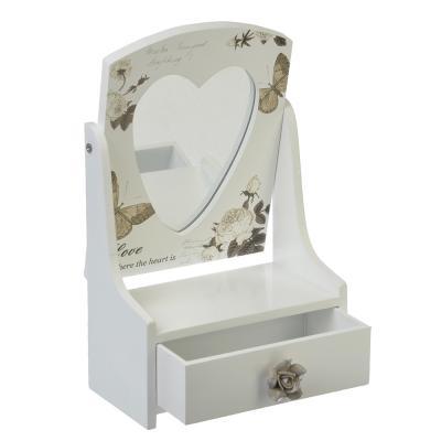 504-539 Шкатулка-трюмо для украшений с зеркалом, МДФ, 21,3х13,9х7,8, 2 дизайна