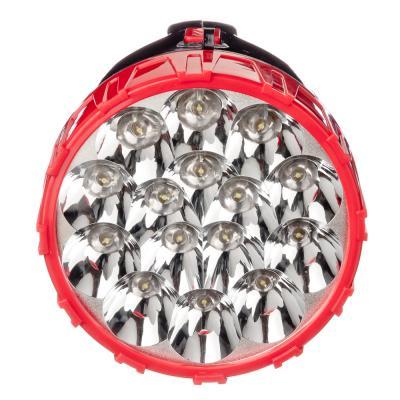198-114 ЧИНГИСХАН Фонарь прожектор 15 ярк. LED, вилка 220В, пластик, 18x10 см