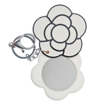 301-204 Карманное зеркало с карабином, круглое d. 6,3 см,пластик, сплав, стекло, 1 дизайн