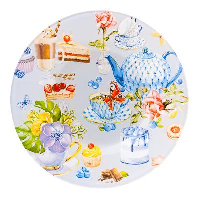 830-477 Чаепитие Тарелка десертная стекло 200мм, S3008