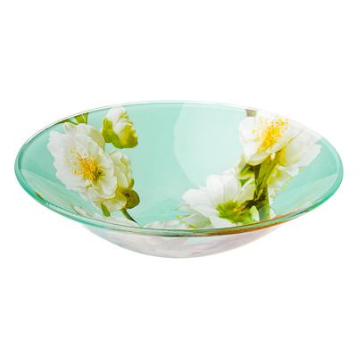 830-486 Яблоневый цвет Салатник стекло 152мм, S302006