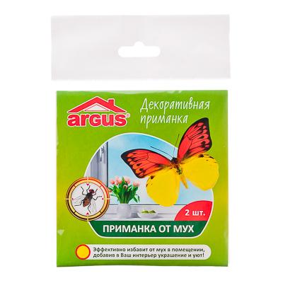 968-006 ARGUS Приманка оконная для мух и др. насекомых, 2 шт в пакете, Бабочка