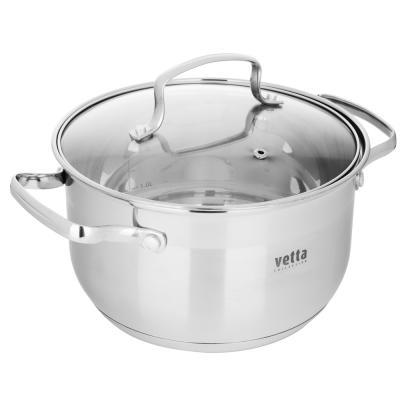 822-101 VETTA Берн Кастрюля 20х12см. 3,5л. со стекл. крышкой, индукция